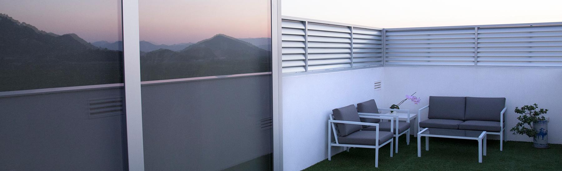 Celosias pvc para terrazas amazing celosia m treillis - Celosias terrazas aticos ...
